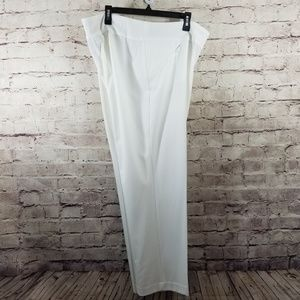 Investments Plus Size Park Ave Fit White Pant